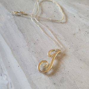 "C. Wonder Letter ""J"" Necklace"